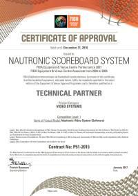 Сертификат FIBA